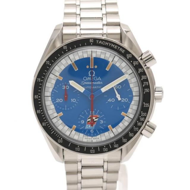 OMEGA オメガ スピードマスター レーシング シューマッハ メンズ 腕時計 3510.81 自動巻き SS シルバー 青文字盤 本物保証 中古
