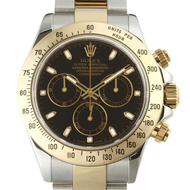 ROLEX ロレックス デイトナ D番 (2005年製) 116523 腕時計 ステンレススチール ブラック 文字盤 メンズ DH48596 大黒屋質店出品  中古 送料無料