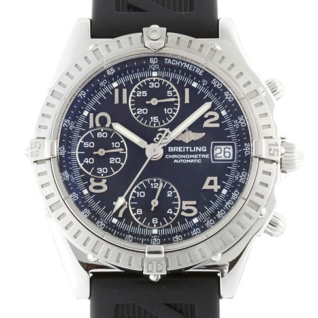 BREITLING ブライトリング クロノマット A13352 腕時計 ステンレススチール ブラック 文字盤 ボーイズ DH48598 大黒屋質店出品  中古 送料無料
