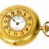 EBERHARD &Co. エベラール アンティーク 懐中時計 750 18K イエローゴールド ホワイト文字盤 手巻 クロノメーター ヴィンテージ 白 18金 K18 スイス製 メンズ レディース ユニセックス 男性 女性 時計 ウォッチ 中古 本物