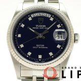 チュードル プリンス デイデイト10Pダイヤ メンズ腕時計 76214 K18WG/SS 青文字盤 仕上げ済 美品 中古