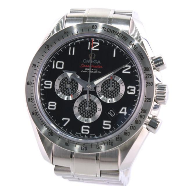 OMEGA オメガ スピードマスター ブロードアロー コーアクシャル 321.10.44.50.01.001 ステンレススチール シルバー 自動巻き メンズ 黒文字盤 腕時計 中古 A+ランク