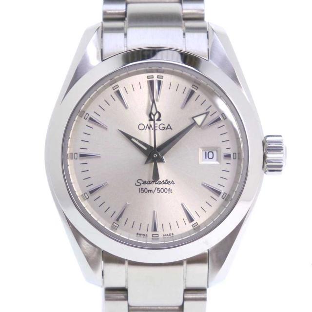 OMEGA オメガ シーマスター150M アクアテラ 2577.30 ステンレススチール クオーツ レディース シルバー文字盤 腕時計 中古 Aランク