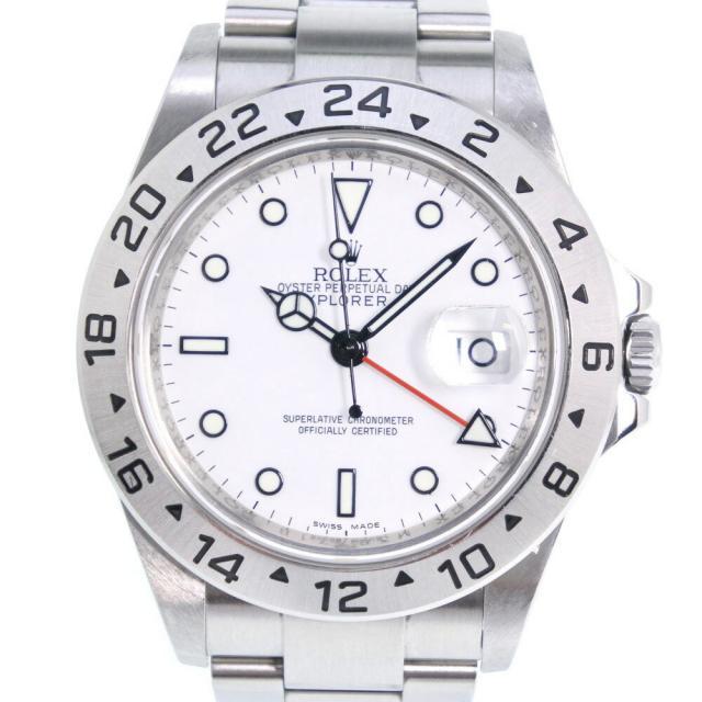ROLEX ロレックス エクスプローラー2 M番 16570 ステンレススチール シルバー 自動巻き メンズ 白文字盤 腕時計 中古 A+ランク