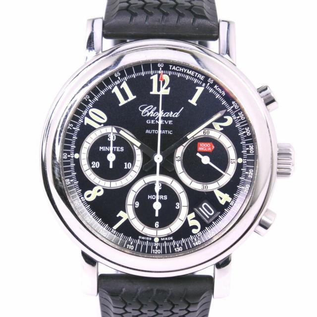 Chopard ショパール ミッレミリア クロノグラフ 8331-52 ステンレススチール×ラバー シルバー 自動巻き メンズ 黒文字盤 腕時計 中古 A-ランク