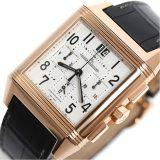 ジャガールクルト JAEGER-LE COULTRE レベルソ スクアドラ クロノグラフ 230.2.45 PG無垢 自動巻き メンズ 腕時計 美品 中古 激安 おお蔵