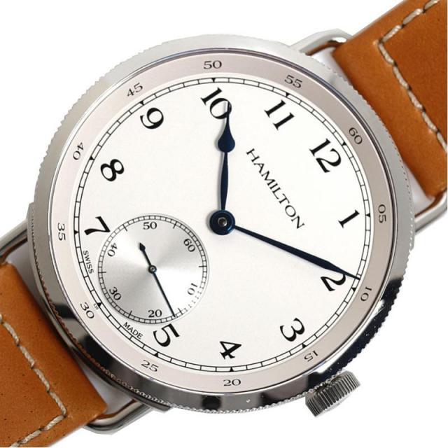 ハミルトン HAMILTON カーキ ネイビー パイオニア H78719553 120周年記念1892本限定 手巻き シルバー メンズ 腕時計 美品 中古 激安 おお蔵