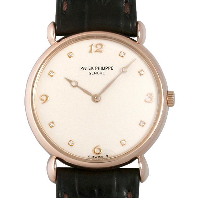 パテックフィリップ カラトラバ 8Pダイヤ 3820R メンズ(006WPPAU0001) 中古 腕時計 送料無料