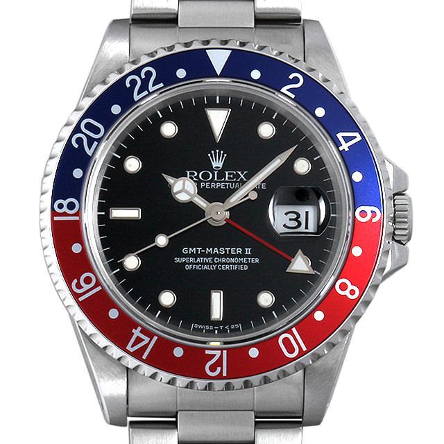 ロレックス GMTマスターII T番 16710 メンズ(006XROAU0582) 中古 腕時計 送料無料