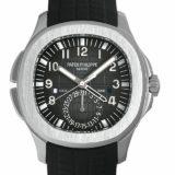 パテックフィリップ アクアノート トラベルタイム 5164A-001 メンズ(039EPPAU0001) 中古 腕時計 送料無料