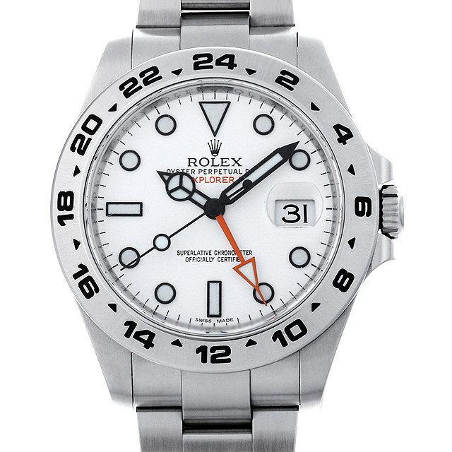 ロレックス エクスプローラーII ランダムシリアル 216570 ホワイト メンズ(007UROAU0454) 中古 腕時計 送料無料