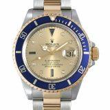 ロレックス サブマリーナ デイト 8Pダイヤ/3Pサファイア N番 16613SG シャンパン メンズ(006XROAU0910) 中古 腕時計 送料無料