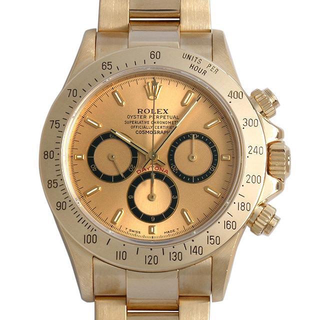 ロレックス コスモグラフ デイトナ N番 16528 シャンパン 逆6文字盤 メンズ(009VROAU0162) 中古 腕時計 送料無料