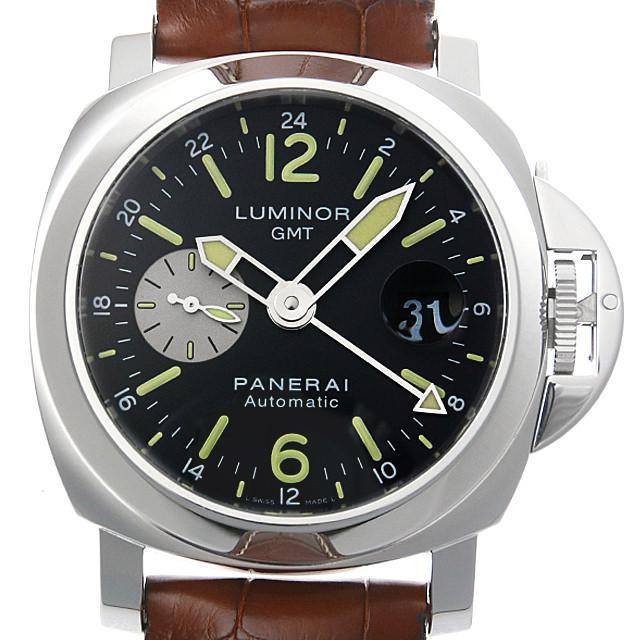 パネライ ルミノールGMT S番 PAM00088 メンズ(008KOPAU0011) 中古 腕時計 送料無料