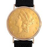 ピアジェ コインウォッチ 20ドル 1901年 メンズ(008WPIAU0003) 中古 腕時計 送料無料