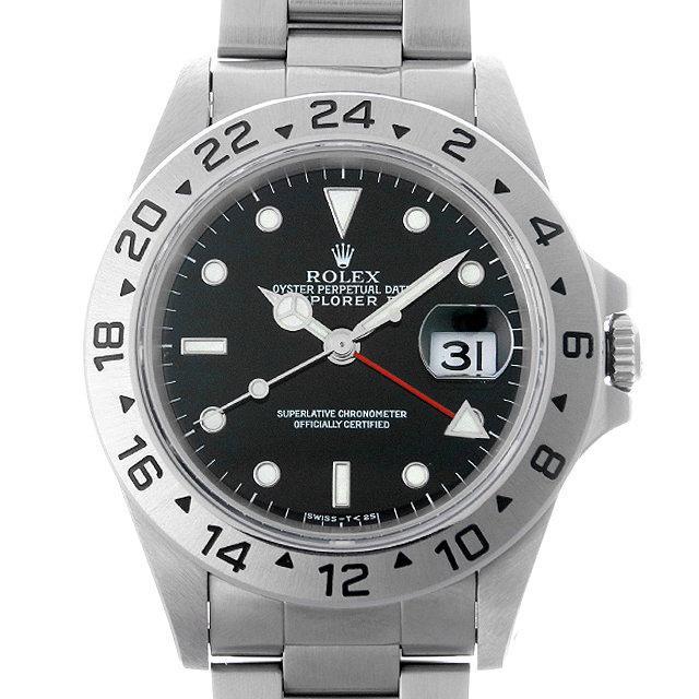 ロレックス エクスプローラーII T番 16570 ブラック メンズ(009VROAU0182) 中古 腕時計 送料無料