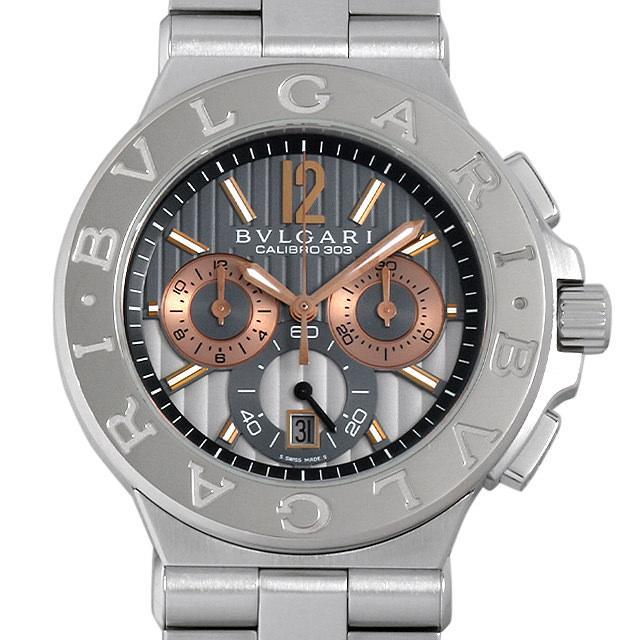ブルガリ ディアゴノ カリブロ303 DG42C14SWGSDCH メンズ(006XBVAU0009) 中古 腕時計 送料無料