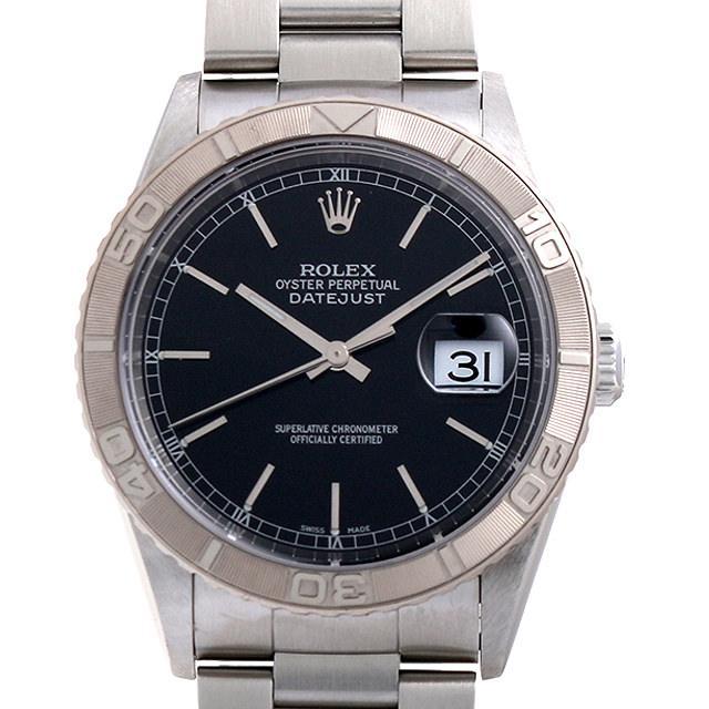 最大5,000円OFFクーポン配布中! ロレックス デイトジャスト サンダーバード F番 16264 ブラック/バー メンズ(0063ROAU0206) 中古 腕時計 送料無料