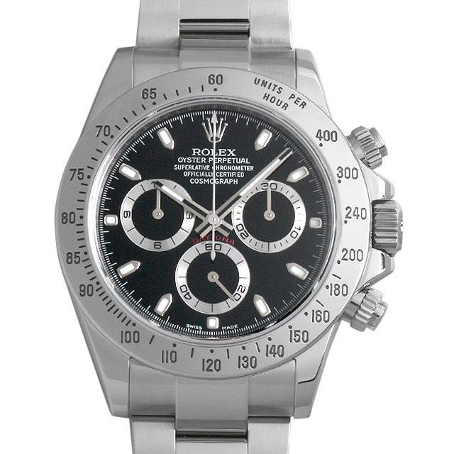 ロレックス コスモグラフ デイトナ ランダムシリアル 116520 ブラック/新クラスプ メンズ(08VCROAU0001) 中古 腕時計 送料無料