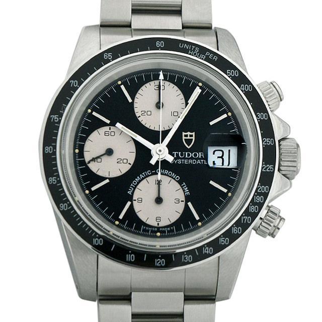 チュードル クロノタイム 79160 ブラック メンズ(006XTUAU0030) 中古 腕時計 送料無料