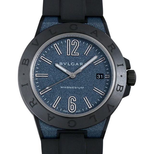 ブルガリ ディアゴノ マグネシウム ブルーラッカー DG41C3SMCVD メンズ(0D29BVAU0001) 中古 腕時計 送料無料