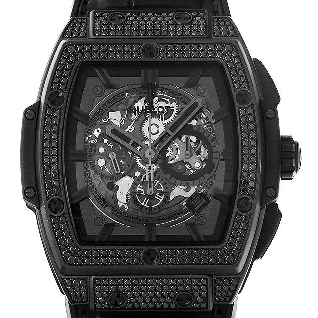 ウブロ スピリット オブ ビックバン オールブラック ジュエリー 601.CI.0110.RX.1700 メンズ(006XHBAU0156) 中古 腕時計 送料無料