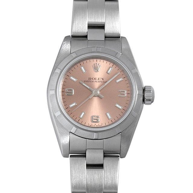 ロレックス オイスターパーペチュアル K番 76030 ピンク/369 レディース(006XROAU0625) 中古 腕時計 送料無料