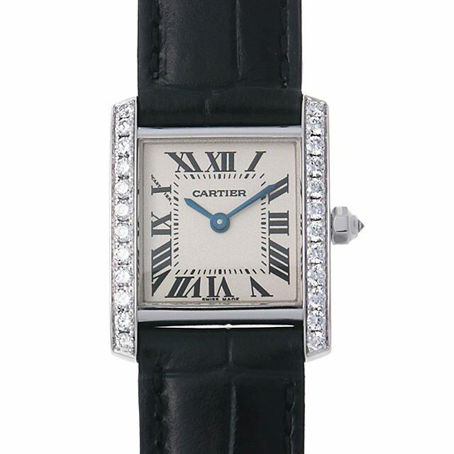 カルティエ タンクフランセーズ サイドダイヤ SM WE100231 レディース(008WCAAU0115) 中古 腕時計 送料無料
