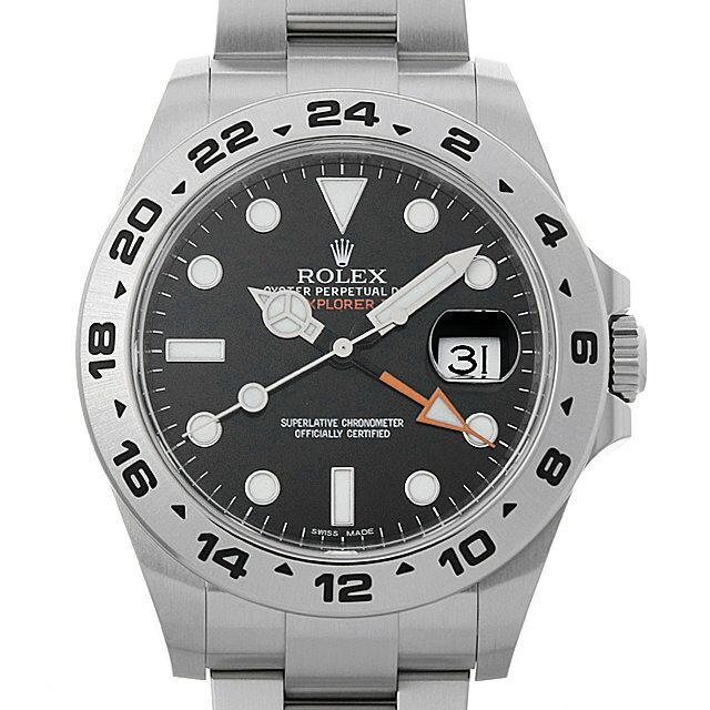 ロレックス エクスプローラーII 216570 ブラック ランダムシリアル メンズ(01DWROAU0002) 中古 腕時計 送料無料 48回払いまで無金利