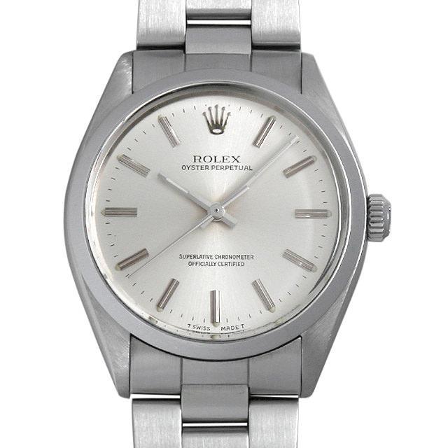 ロレックス オイスターパーペチュアル 95番 1002 シルバー/バー メンズ(008WROAA0021) アンティーク 腕時計 送料無料
