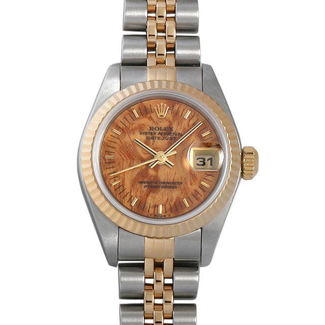 ロレックス デイトジャスト P番 79173 マホガニー レディース(008TROAU0002) 中古 腕時計 送料無料