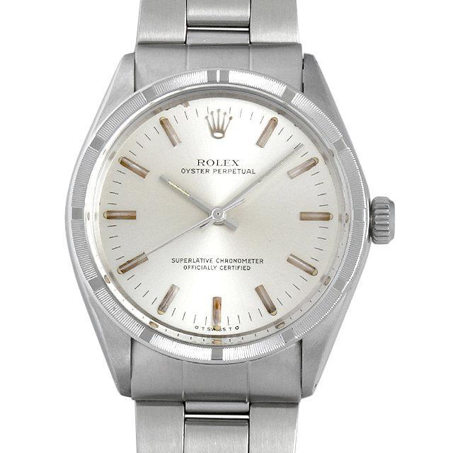 ロレックス オイスターパーペチュアル クロノメーター 37番 1007 シルバー/バー メンズ(007UROAA0045) アンティーク 腕時計 送料無料