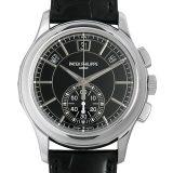 パテックフィリップ コンプリケーション アニュアルカレンダー クロノグラフ 5905P-010 メンズ(0C4WPPAU0001) 中古 腕時計 送料無料