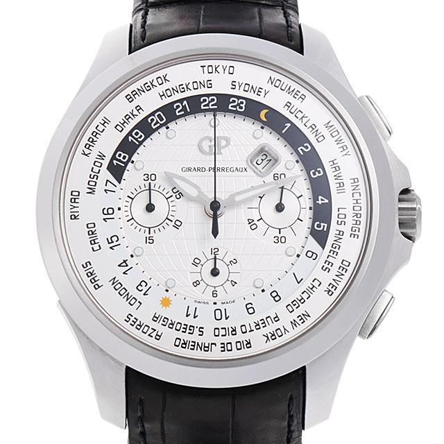 ジラールペルゴ トラベラー ムーンフェイズ&ラージデイト 49700-11-631-BB6B メンズ(0E6ZGIAU0001) 中古 腕時計 送料無料