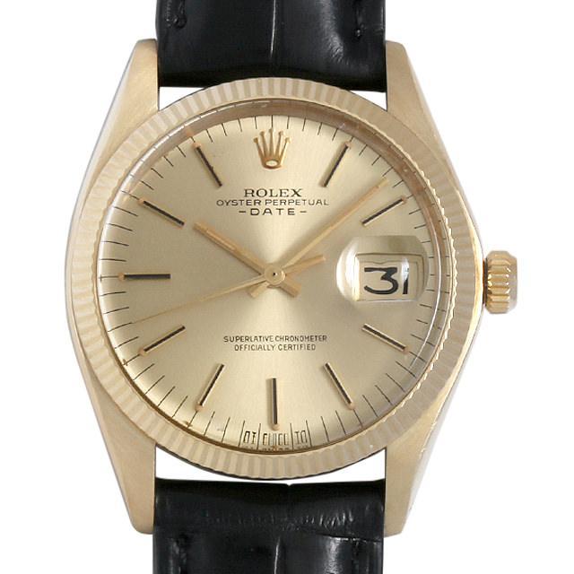 ロレックス オイスターパーペチュアル デイト cal.1570 37番 1503 シャンパン/シグマダイアル メンズ(008WROAA0022) アンティーク 腕時計 送料無料