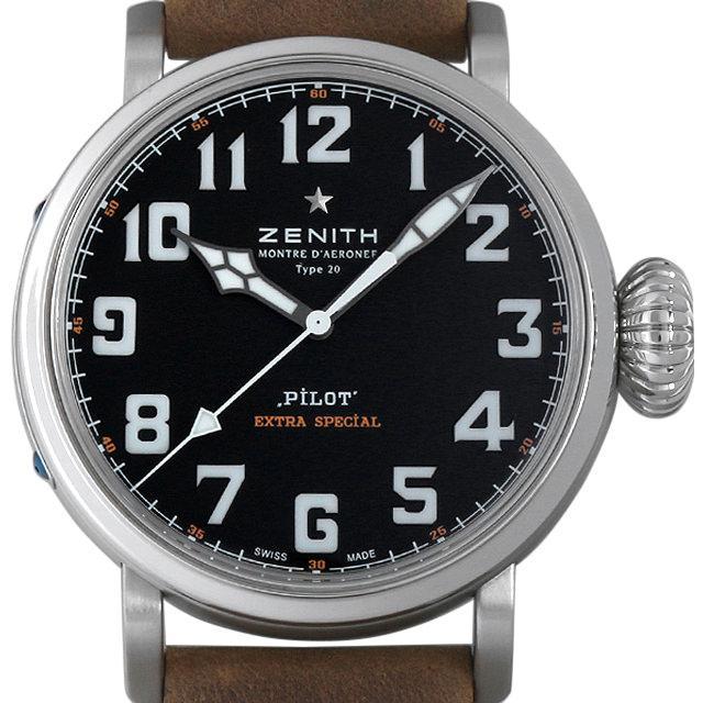 ゼニス パイロット タイプ20 エクストラスペシャル 03.2430.3000/21.C738 メンズ(007UZHAS0002) 中古 未使用 腕時計 送料無料