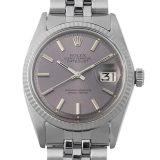 ロレックス デイトジャスト Cal.1560 12番 1601 グレー/バー メンズ(0014ROAA0013) アンティーク 腕時計 送料無料
