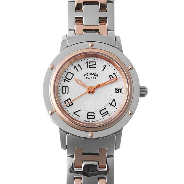 エルメス クリッパー ナクレ 035321WW00(CP1.221) レディース(0087HEAU0005) 中古 腕時計 送料無料