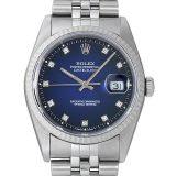 ロレックス デイトジャスト 10Pダイヤ X番 16234G ブルーグラデーション メンズ(0DF7ROAU0004) 中古 腕時計 送料無料