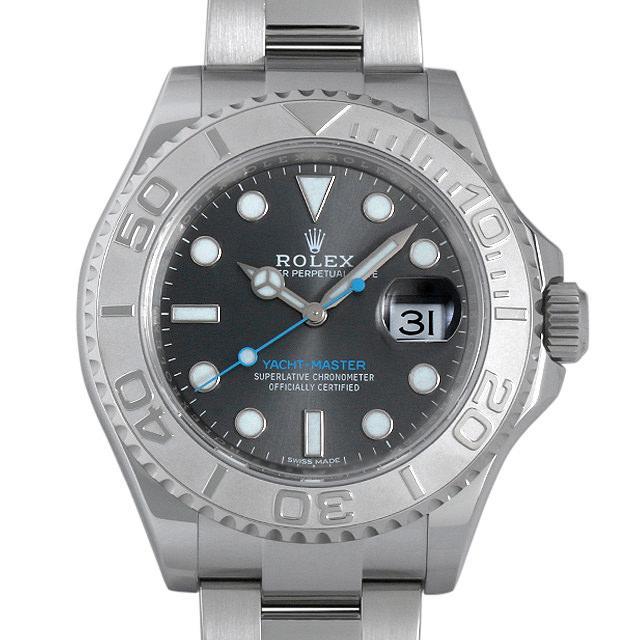 ロレックス ヨットマスター ロレジウム 116622 ダークロジウム メンズ(0EMAROAU0004) 中古 腕時計 送料無料