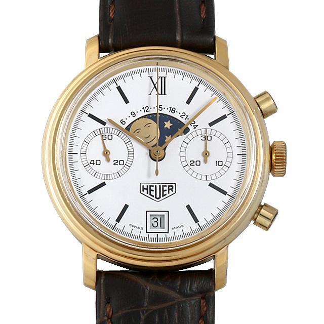 ホイヤー ムーンフェイズ クロノグラフ Cal.7734 34.300 メンズ(0EO3HERA0001) アンティーク 腕時計 送料無料