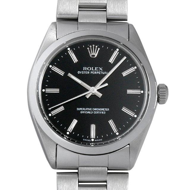 ロレックス オイスターパーペチュアル 21番 1002 ブラック/バー メンズ(03Y1ROAA0001) アンティーク 腕時計 送料無料