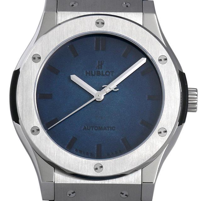 ウブロ クラシックフュージョン ベルルッティ スクリット オーシャンブルー 511.NX.050B.VR.BER16 メンズ(009FHBAS0003) 中古 未使用 腕時計 送料無料