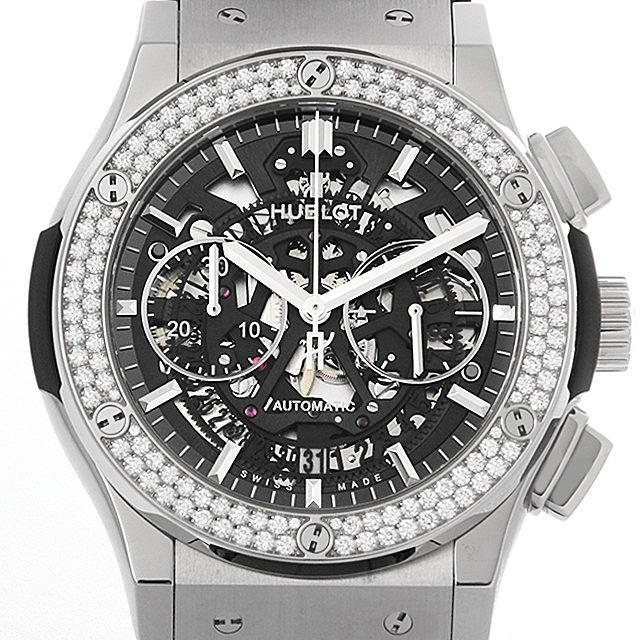 ウブロ アエロフュージョン チタニウム ダイヤモンド クロノグラフ 525.NX.0170.LR.1104 メンズ(006XHBAU0105) 中古 腕時計 送料無料