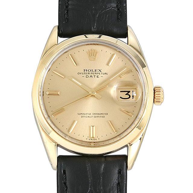 ロレックス オイスターパーペチュアル デイト 31番 1550 シャンパン メンズ(0063ROAA0035) アンティーク 腕時計 送料無料