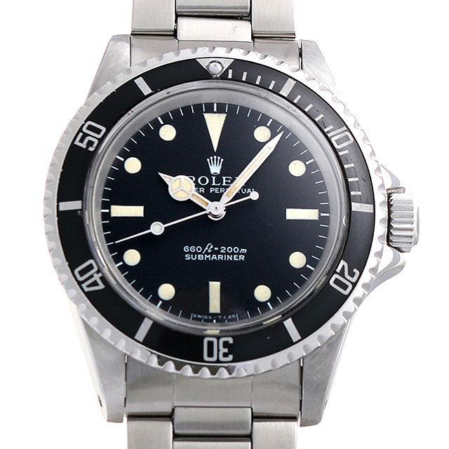 ロレックス サブマリーナ Cal.1520 24番 フチなし 5513 メンズ(0BCCROAA0011) アンティーク 腕時計 送料無料