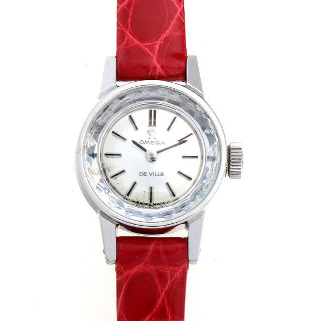 オメガ デ・ヴィル カットガラス ST511.166 レディース(007UOMAA0023) アンティーク 腕時計 送料無料