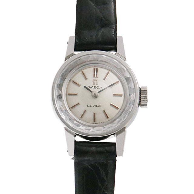 オメガ デ・ヴィル カットガラス ST511.166 レディース(007UOMAA0022) アンティーク 腕時計 送料無料