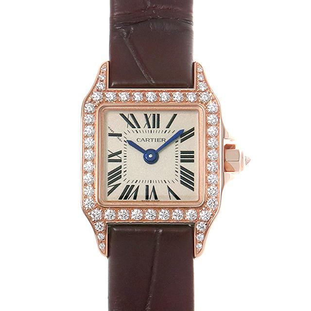カルティエ ミニサントス ドゥ モワゼル ベゼルダイヤ WF902004 レディース(009FCAAW0001) 未使用 腕時計 送料無料