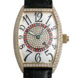 フランクミュラー ヴェガス ベゼルダイヤ センターダイヤ 5850VEGAS D YG メンズ(009VFRAU0061) 中古 腕時計 送料無料
